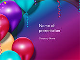Holiday/Special Occasion: Colorful Balloon Party PowerPoint Template #14635
