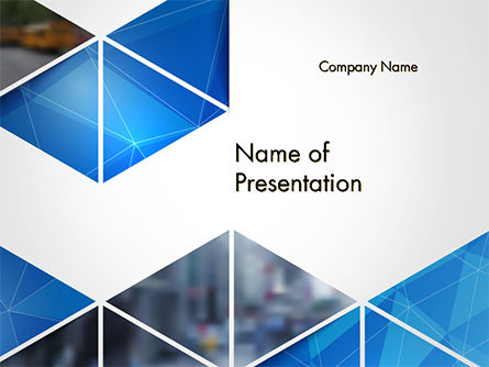 Abstract Triangular Geometric PowerPoint Template