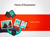 Business Concepts: Graphic Designer PowerPoint Template #14641