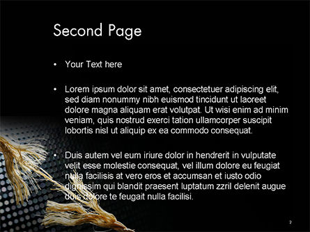 Torn Rope PowerPoint Template, Slide 2, 14642, Business Concepts — PoweredTemplate.com