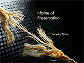 Business Concepts: Torn Rope PowerPoint Template #14642