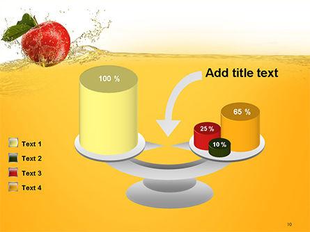 Apple With Juice Splash PowerPoint Template Slide 10