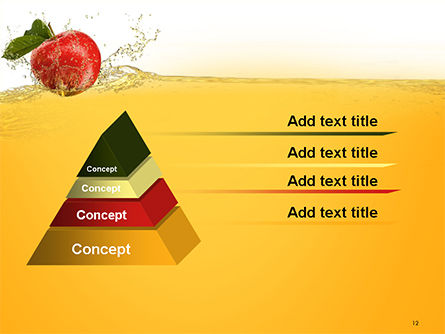 Apple With Juice Splash PowerPoint Template Slide 12