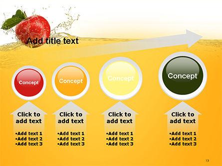 Apple With Juice Splash PowerPoint Template Slide 13