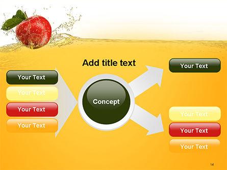 Apple With Juice Splash PowerPoint Template Slide 14