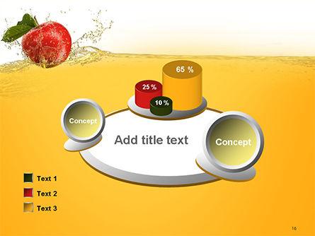 Apple With Juice Splash PowerPoint Template Slide 16