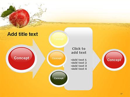 Apple With Juice Splash PowerPoint Template Slide 17