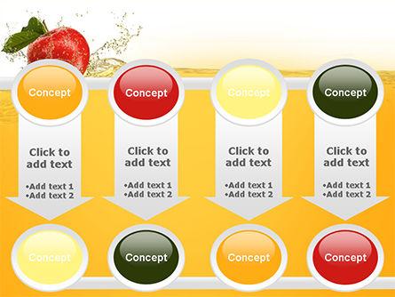 Apple With Juice Splash PowerPoint Template Slide 18