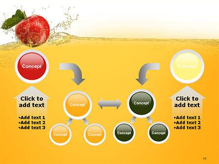 Apple With Juice Splash PowerPoint Template Slide 19