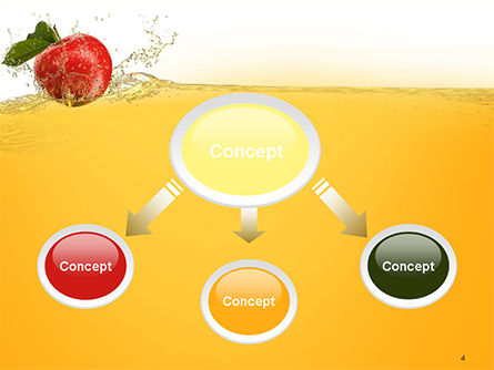 Apple With Juice Splash PowerPoint Template, Slide 4, 14644, Food & Beverage — PoweredTemplate.com