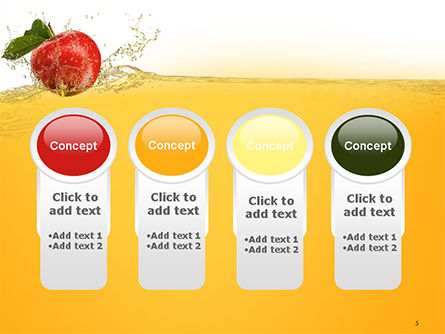Apple With Juice Splash PowerPoint Template Slide 5