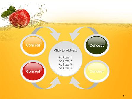 Apple With Juice Splash PowerPoint Template Slide 6