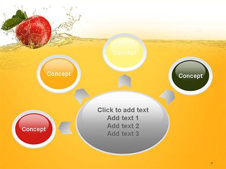 Apple With Juice Splash PowerPoint Template Slide 7