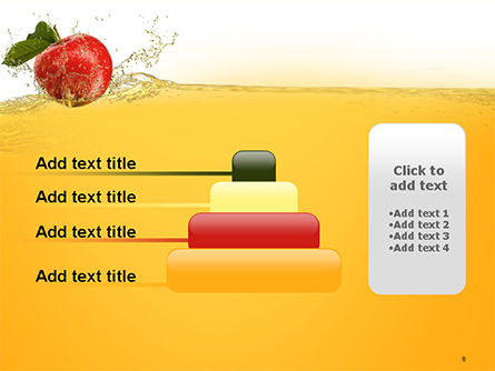 Apple With Juice Splash PowerPoint Template Slide 8