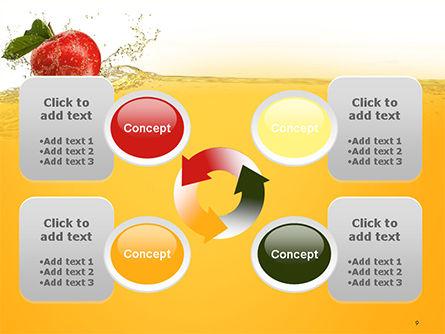 Apple With Juice Splash PowerPoint Template Slide 9