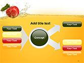 Apple With Juice Splash PowerPoint Template#14