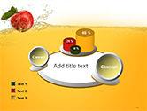 Apple With Juice Splash PowerPoint Template#16