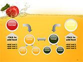 Apple With Juice Splash PowerPoint Template#19