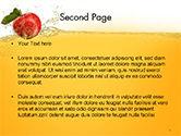 Apple With Juice Splash PowerPoint Template#2