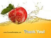 Apple With Juice Splash PowerPoint Template#20