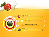 Apple With Juice Splash PowerPoint Template#3