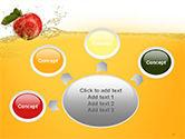 Apple With Juice Splash PowerPoint Template#7