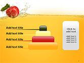 Apple With Juice Splash PowerPoint Template#8