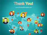 Social Connections on Word Map PowerPoint Template#20