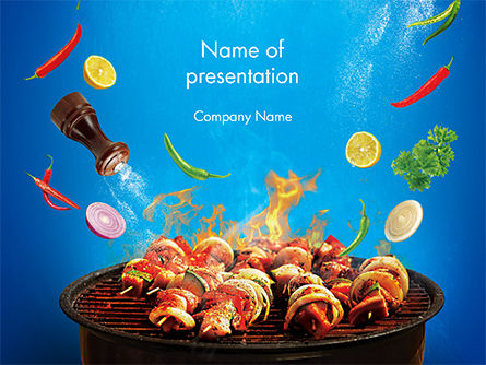 Grilling and Roasting PowerPoint Template, 14649, Food & Beverage — PoweredTemplate.com