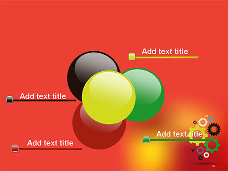 Colorful Gears PowerPoint Template Slide 10