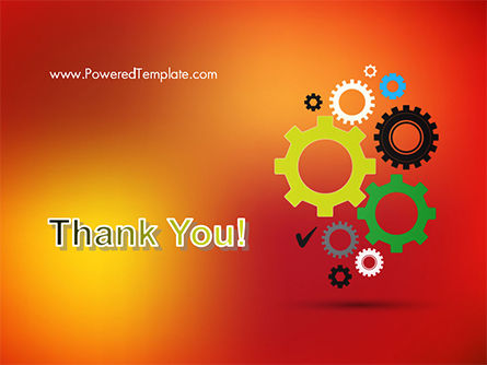Colorful Gears PowerPoint Template Slide 20