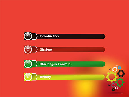 Colorful Gears PowerPoint Template, Slide 3, 14650, Business Concepts — PoweredTemplate.com