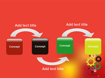 Colorful Gears PowerPoint Template, Slide 4, 14650, Business Concepts — PoweredTemplate.com