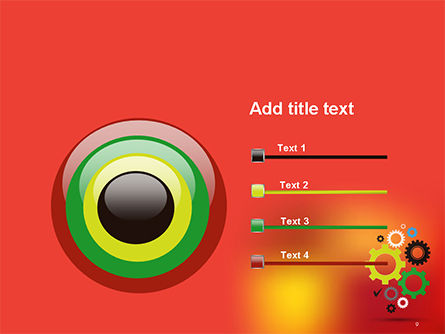 Colorful Gears PowerPoint Template Slide 9