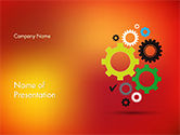 Business Concepts: Colorful Gears PowerPoint Template #14650