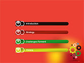 Colorful Gears PowerPoint Template#3