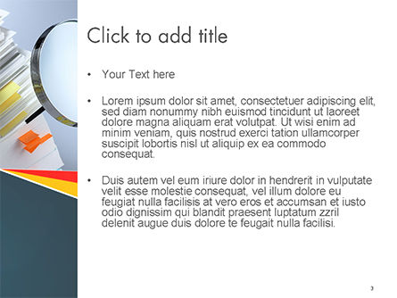 Investigate and Analyze PowerPoint Template, Slide 3, 14651, Consulting — PoweredTemplate.com