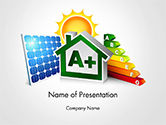 Technology and Science: Energy Efficient House PowerPoint Template #14652