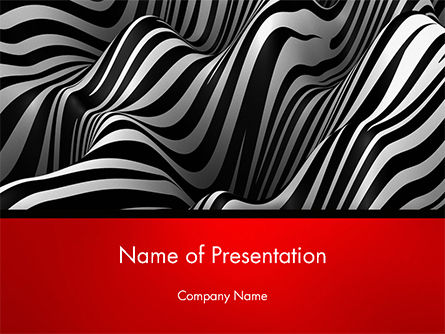 3D: Zebra Abstract Surface PowerPoint Template #14653