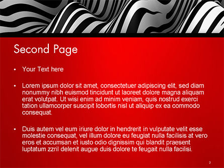 Zebra Abstract Surface PowerPoint Template, Slide 2, 14653, 3D — PoweredTemplate.com
