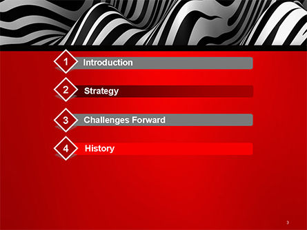 Zebra Abstract Surface PowerPoint Template, Slide 3, 14653, 3D — PoweredTemplate.com