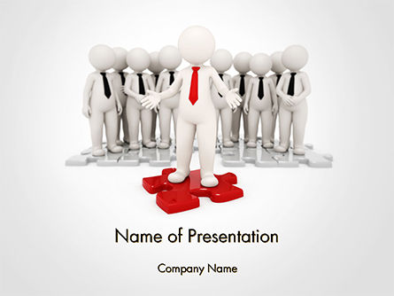 3D: Successful Business Leader PowerPoint Template #14654