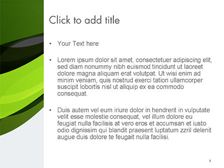 Green and Gray Bands PowerPoint Template, Slide 3, 14655, Abstract/Textures — PoweredTemplate.com