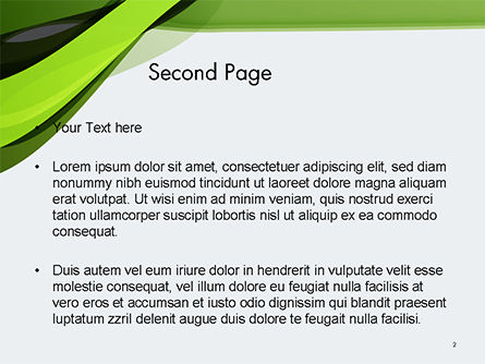 Green and Gray Bands PowerPoint Template, Slide 2, 14655, Abstract/Textures — PoweredTemplate.com