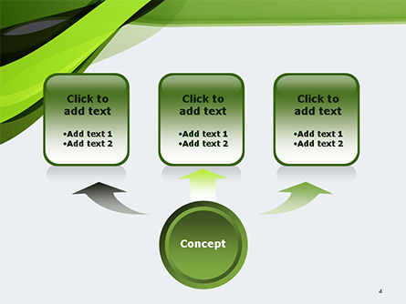 Green and Gray Bands PowerPoint Template, Slide 4, 14655, Abstract/Textures — PoweredTemplate.com