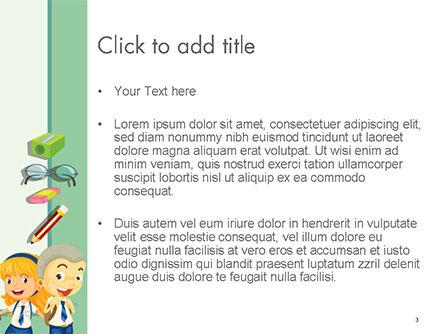 Frame with Children in School Uniform PowerPoint Template, Slide 3, 14658, Education & Training — PoweredTemplate.com