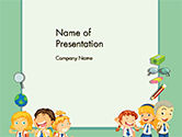 Frame with Children in School Uniform PowerPoint Template#1