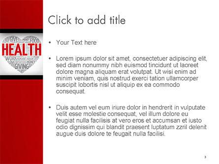 Health Word Cloud PowerPoint Template, Slide 3, 14659, Medical — PoweredTemplate.com
