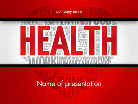 Medical: Health Word Cloud PowerPoint Template #14659