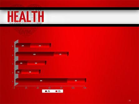 Health Word Cloud PowerPoint Template Slide 11